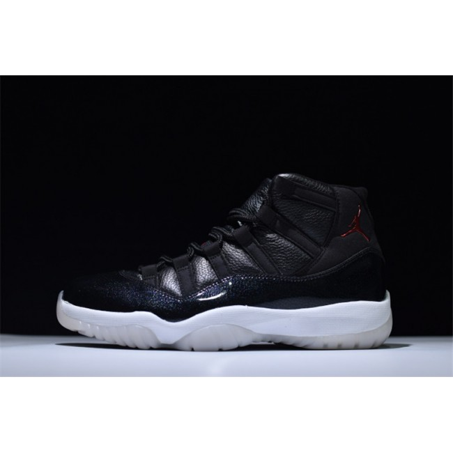 Mens/Womens Brand New Air Jordan 11 Retro 72 10 Black/Gym Red-White