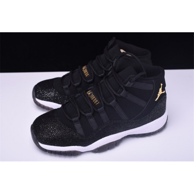 Mens/Womens Air Jordan 11 Retro PRM Heiress Black Stingray Black/Metallic
