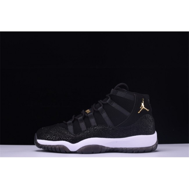 Mens/Womens Air Jordan 11 Retro PRM Heiress Black Stingray Black/Metallic