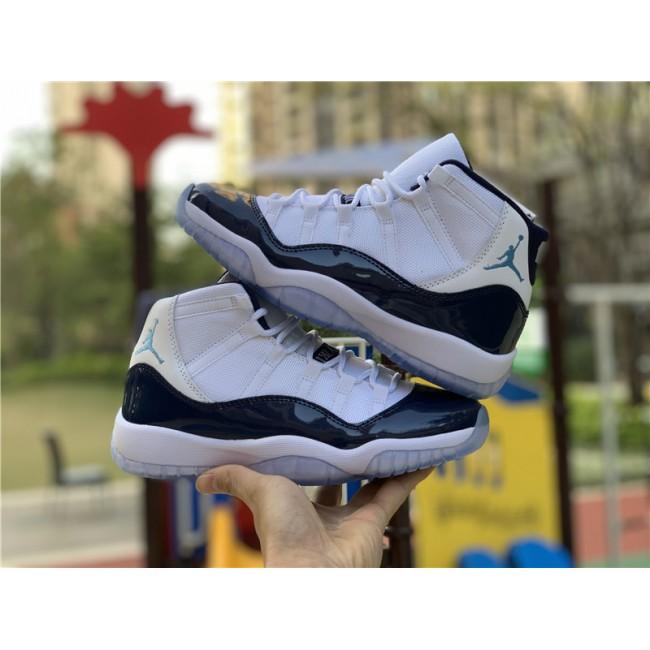Mens/Womens Air Jordan 11 Retro Win Like 82 White/University Blue