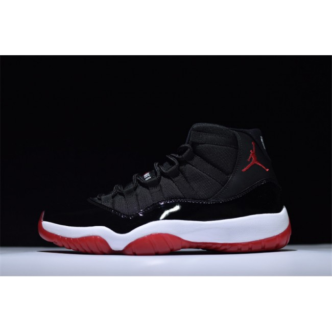 Mens Jordan Brand Air Jordan 11 XI Retro Bred Black/Varsity Red-White