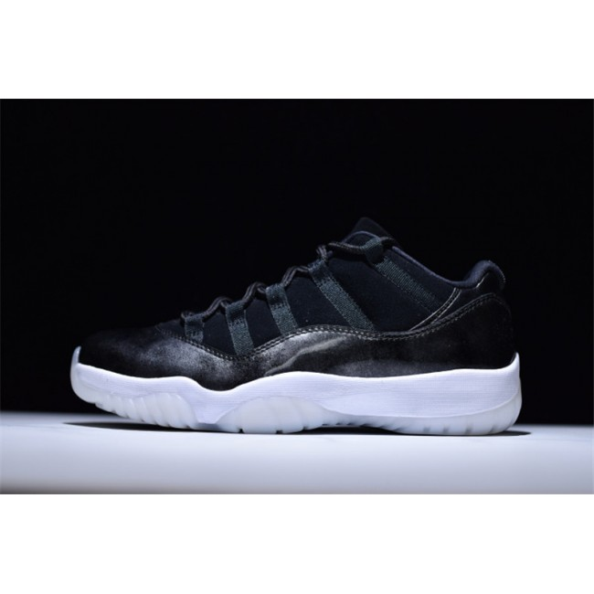 Mens/Womens Air Jordan 11 Retro Low Barons Black/Metallic Silver-White
