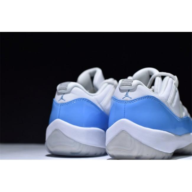 Mens Air Jordan 11 Retro Low UNC Carolina White/University Blue