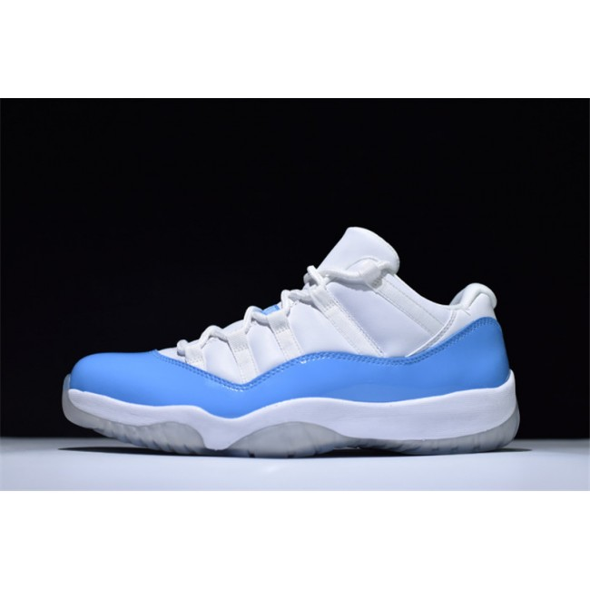 Mens Air Jordan 11 Retro Low UNC Carolina White/University Blue