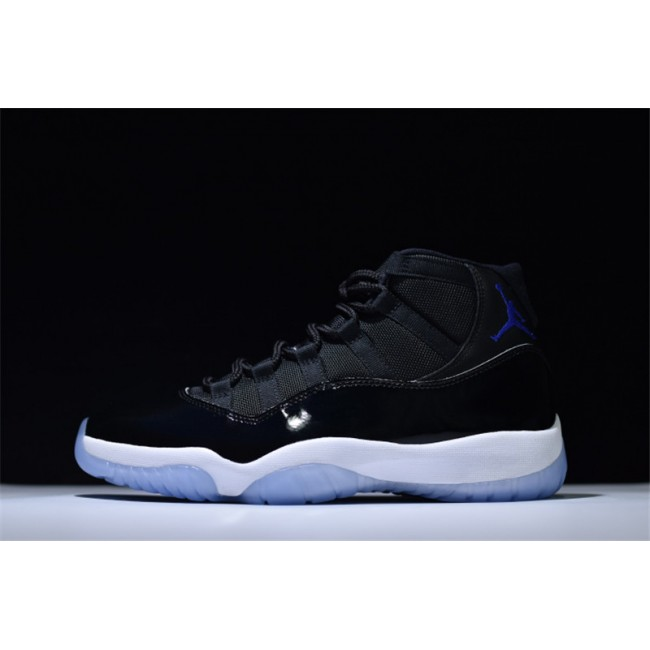 Mens/Womens and Air Jordan 11 Retro Space Jam Black/Concord-White