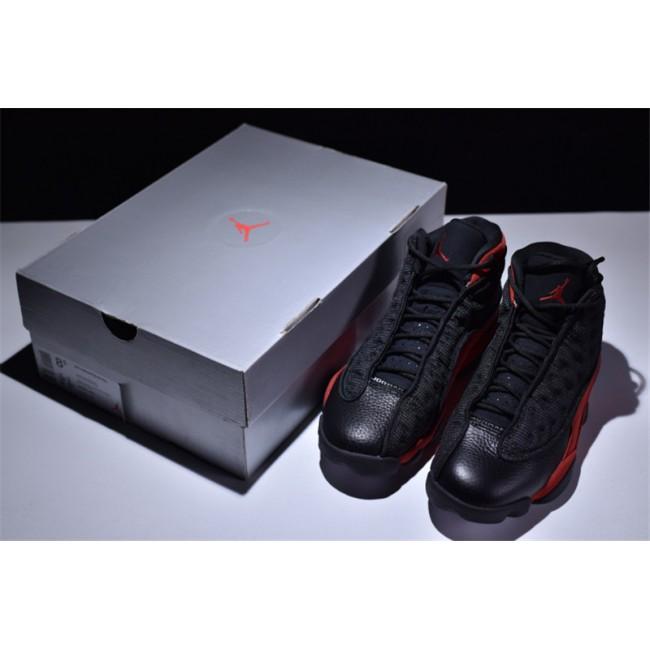 Mens 2017 Air Jordan 13 Retro Bred Black/Varsity Red-White