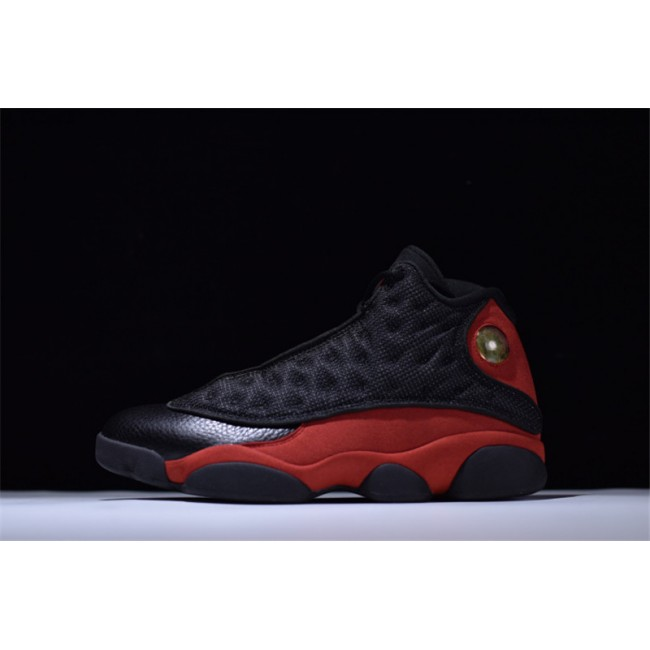 Mens 2017 Air Jordan 13 Retro Bred Black/Varsity Red-White