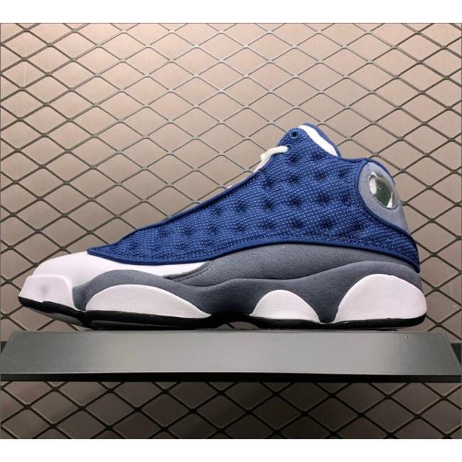Mens 2020 Air Jordan 13 Flint Navy/Flint Grey-White-University Blue