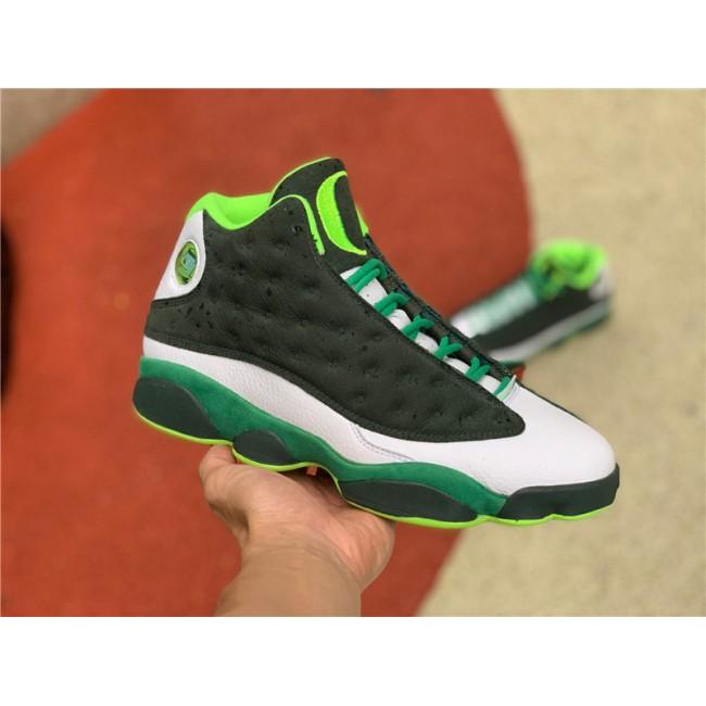 Mens Air Jordan 13 Oregon Ducks PE Lucky Green