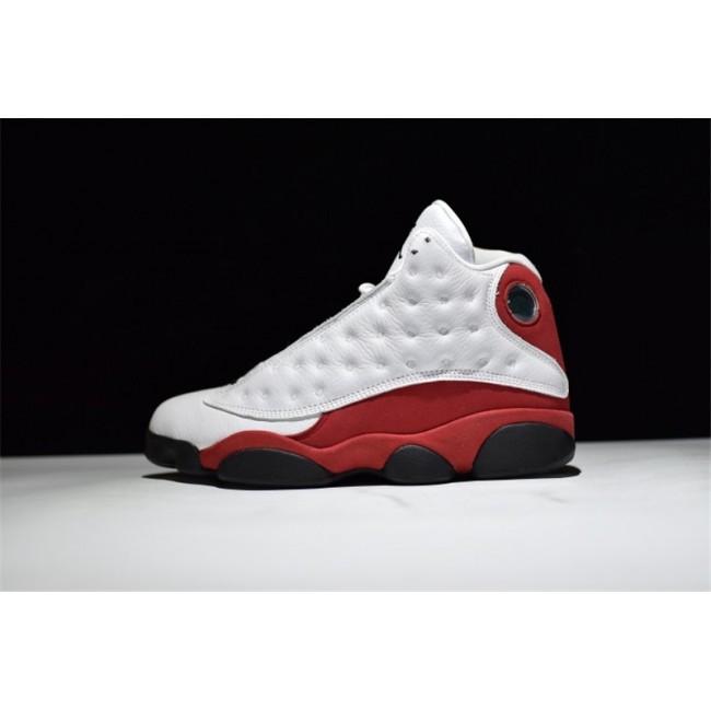 Mens Air Jordan 13 Retro Chicago White/Black-Team Red