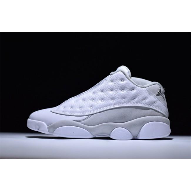 Mens Air Jordan 13 Low Pure Money White/Metallic Silver