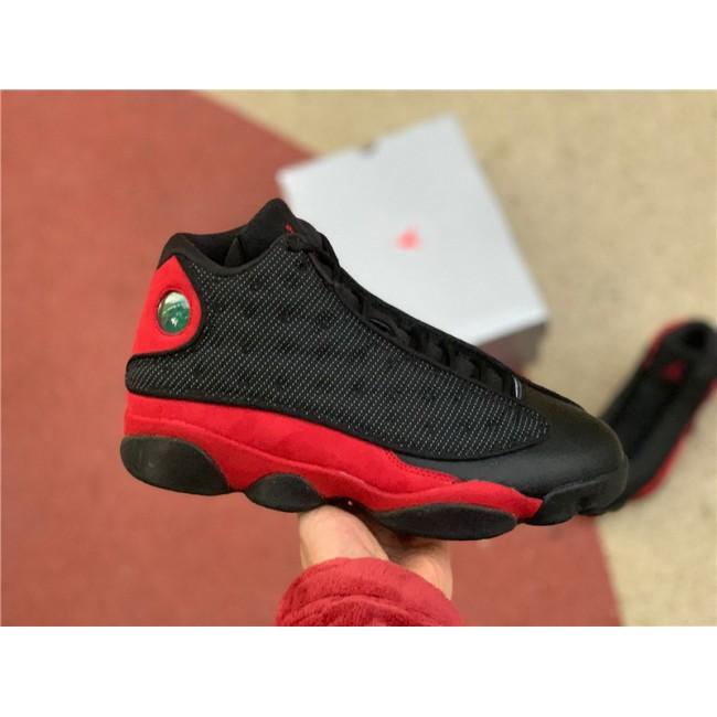 Mens Air Jordan 13 Bred Black Red For Sale