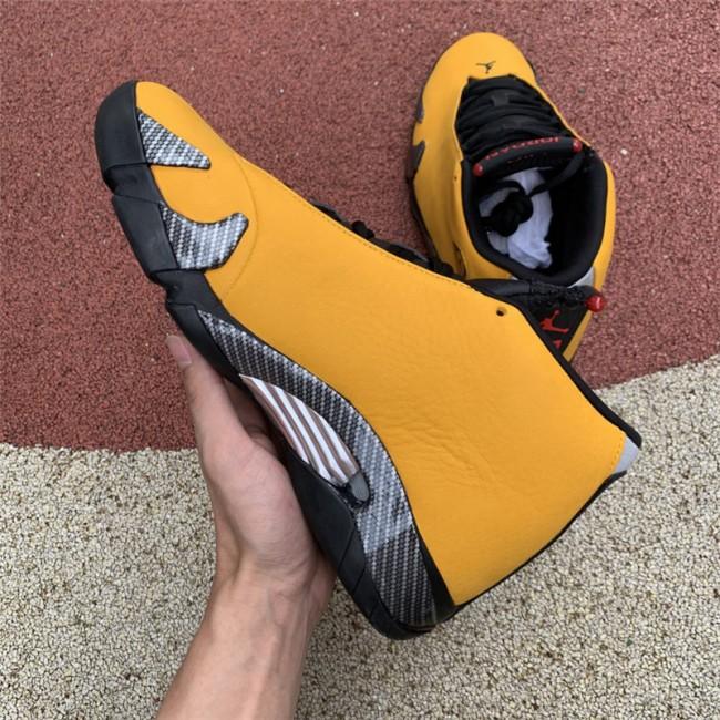 Mens Buy Cheap Air Jordan 14 Yellow Ferrari Online