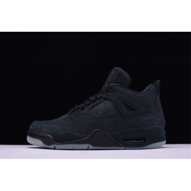 Mens Air Jordan 4 Retro KAWS Black