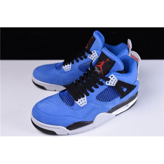 Mens Eminem X Air jordan 4 Encore Blue Black-Grey Red