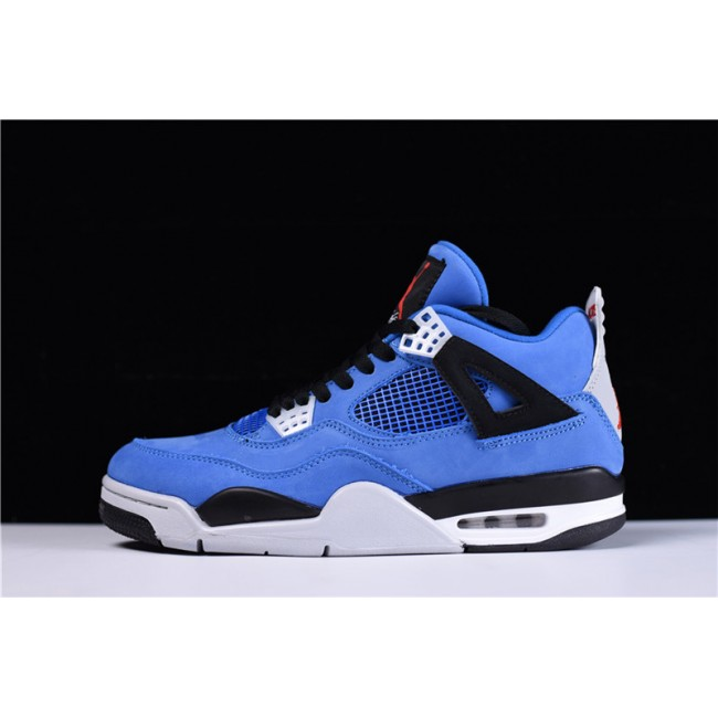 Mens Eminem X Air jordan 4 Encore Blue Black-Grey Red