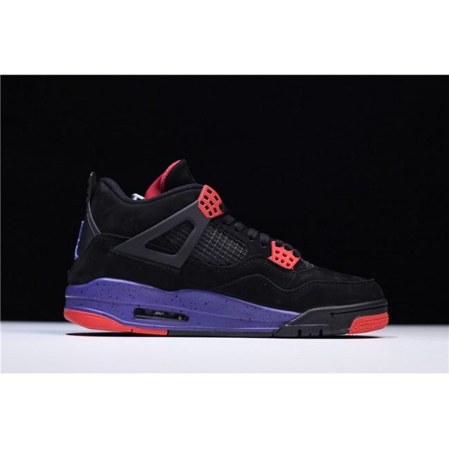 Mens Air Jordan 4 Retro NRG Raptors Black University Red