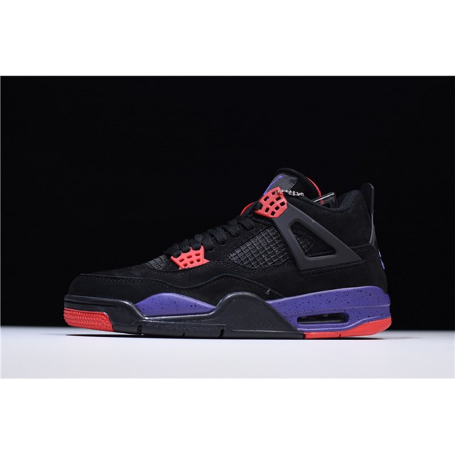 Mens Air Jordan 4 Retro NRG Raptors Black University Red