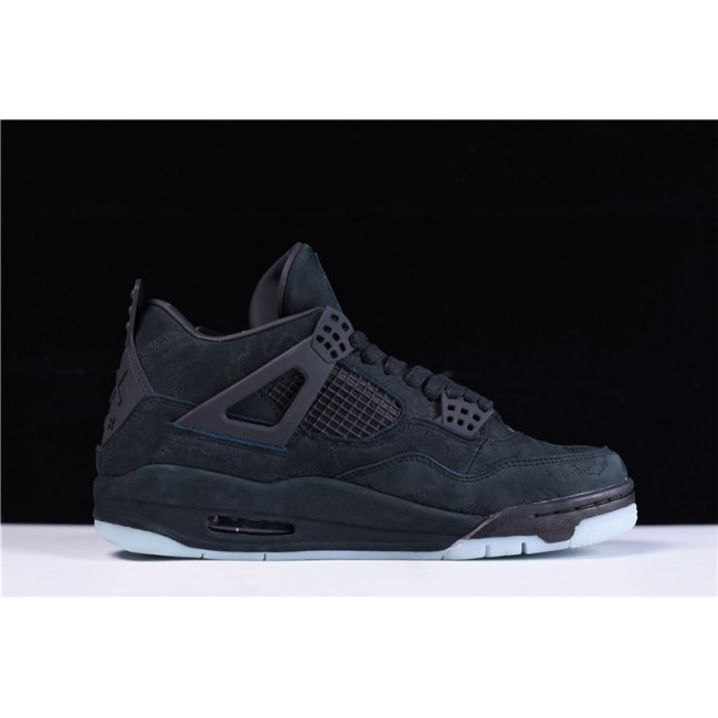 Mens New KAWS x Air Jordan 4 Retro Black Sale
