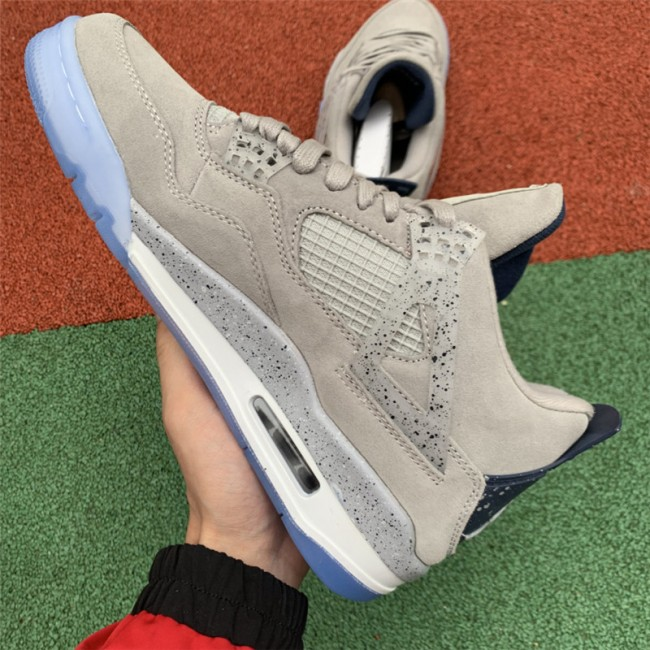 Mens Air Jordan 4 Georgetown Hoyas Light Grey On Sale
