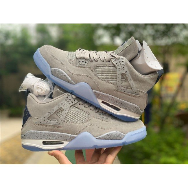 Mens Air Jordan 4 Georgetown Hoyas Light Grey On Sale