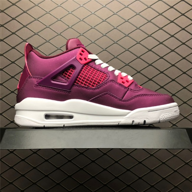 Womens Air Jordan 4 GS Valentines Day True Berry White