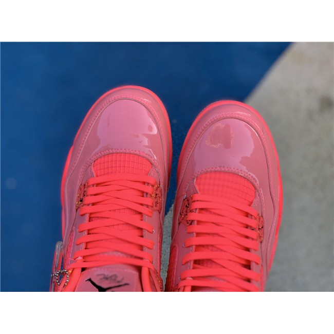 Mens/Womens Air Jordan 4 NRG Hot Punch Black-Volt