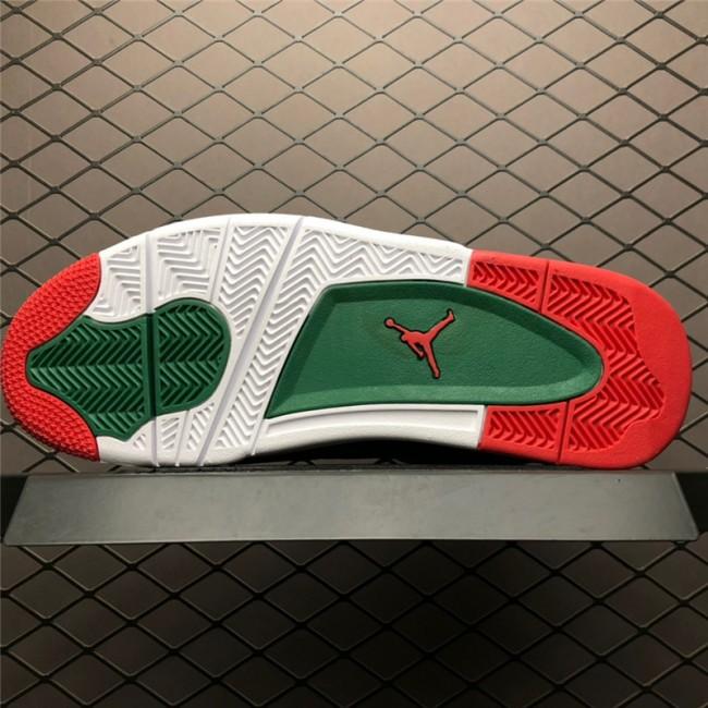 Mens Air Jordan 4 NRG White Gorge Green-Varsity Red