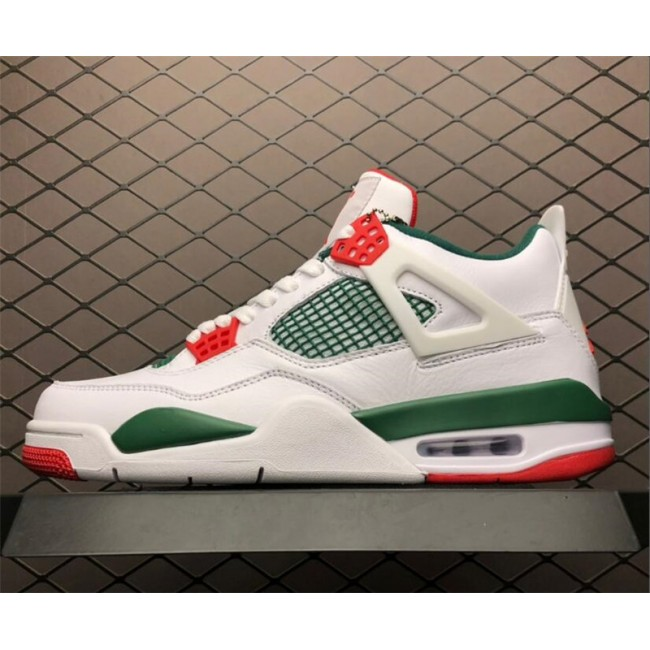 Mens Air Jordan 4 NRG White Gorge Green-Varsity Red