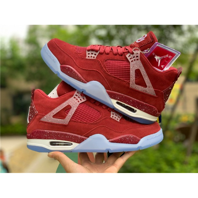 Mens Air Jordan 4 Oklahoma Sooners PE Red