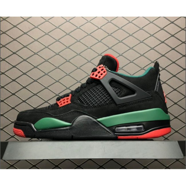 Mens Air Jordan 4 Retro NRG Do the Right Thing Black Gorge