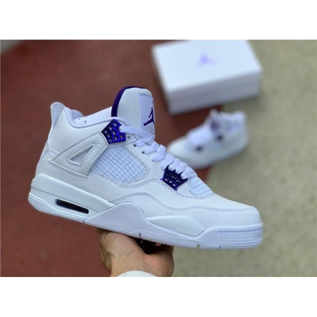 Mens Air Jordan 4 Metallic Purple Basketball Shoes