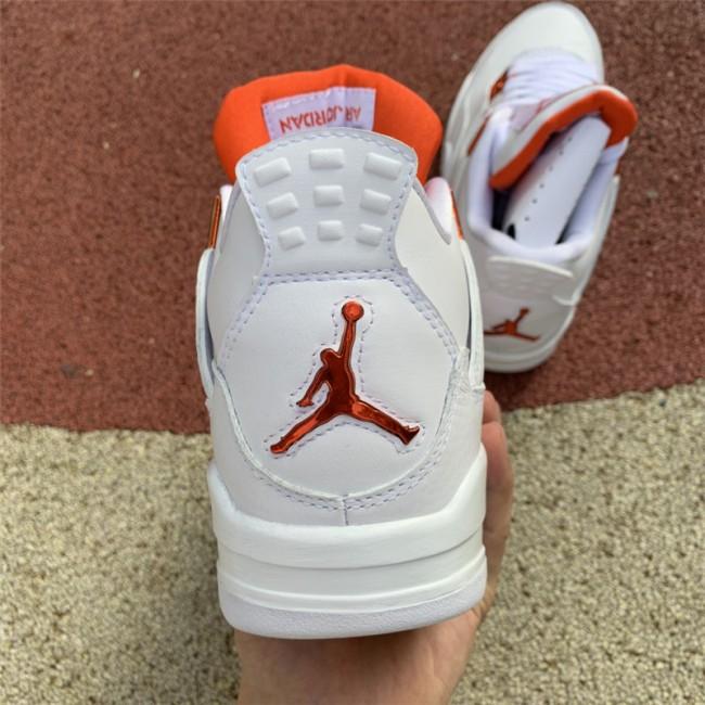 Mens Newest Air Jordan 4 Orange Metallic CT8527-118