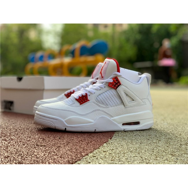 Mens Release Air Jordan 4 Red Metallic Sneaker