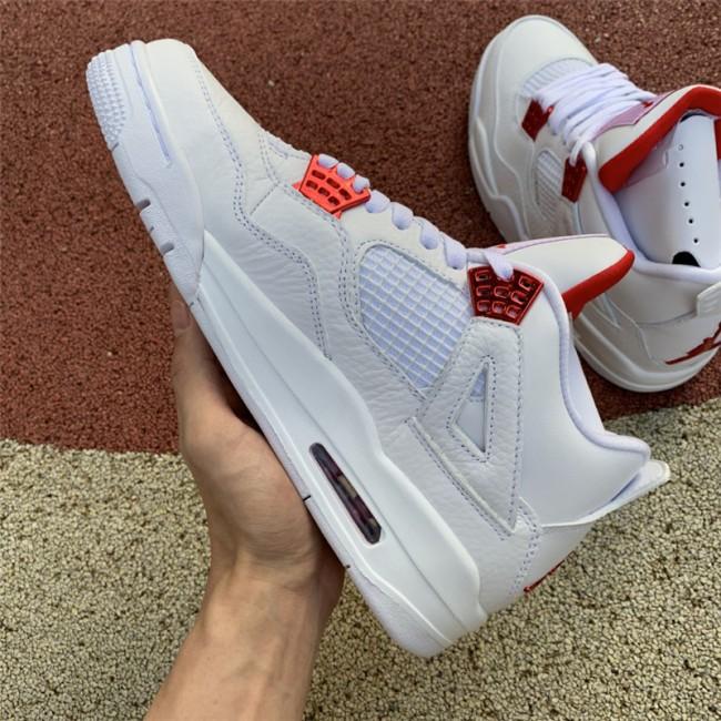 Mens Release Air Jordan 4 Red Metallic Sneaker