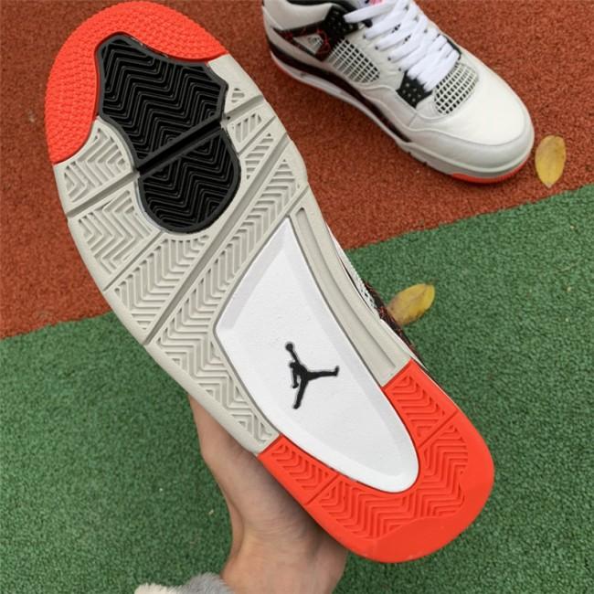 Mens Air Jordan 4 Pale Citron White Black-Light
