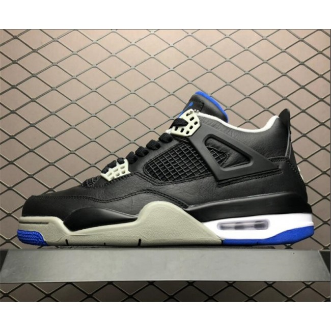 Mens Air Jordan 4 Retro Motorsports Alternate Black Game Royal