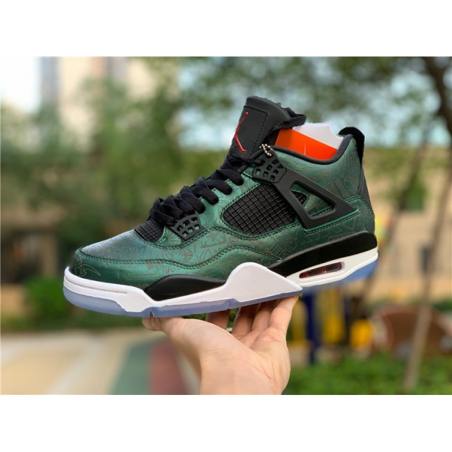 Mens Air Jordan 4 Laser Green White Men Size In Store
