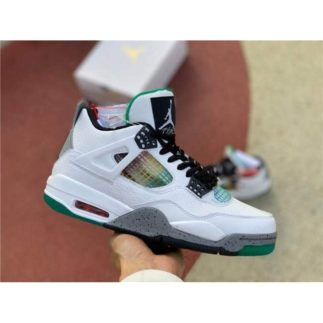 Mens Air Jordan 4 Retro Rasta Lucid Green