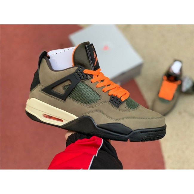 Mens Air Jordan 4 IV Retro UNDFTD Olive Green