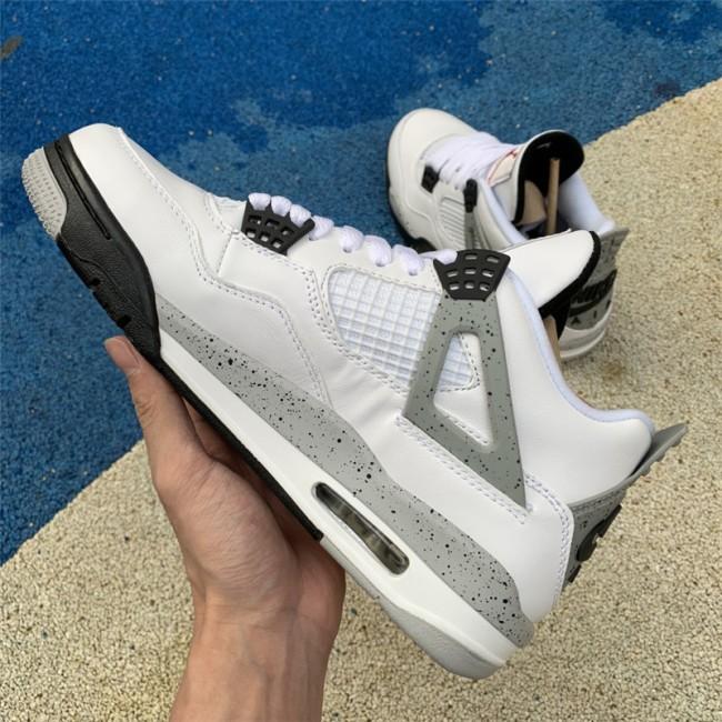 Mens Air Jordan 4 IV Retro OG White Cement