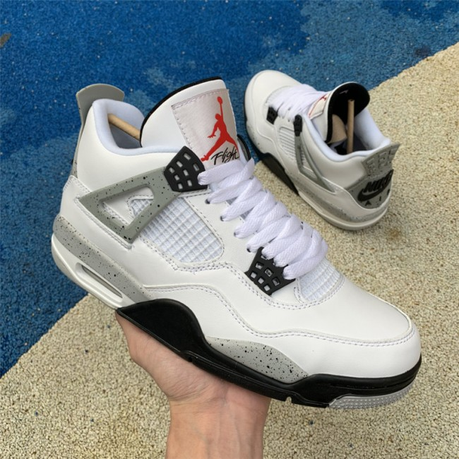 Mens Air Jordan 4 IV Retro OG White Cement