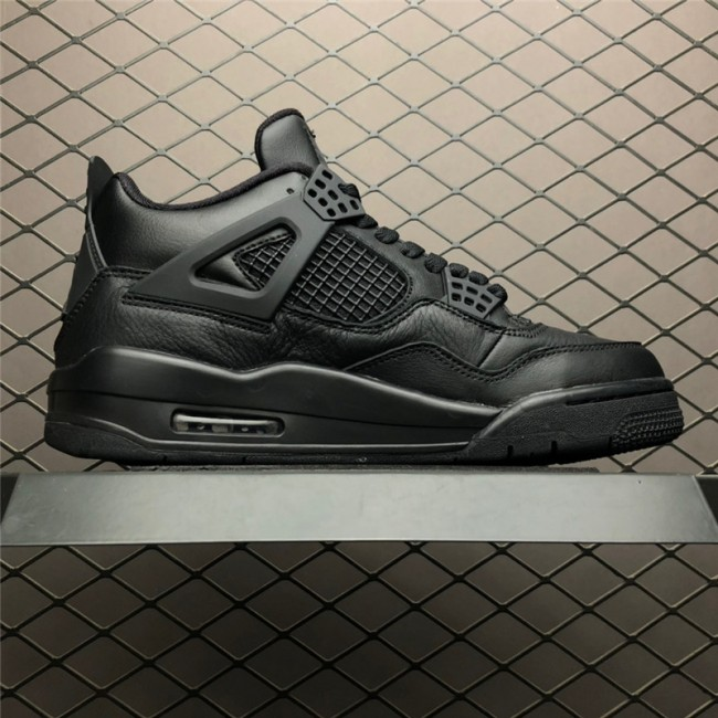 Mens Air Jordan 4 Retro Black Cat Black-Light Graphite