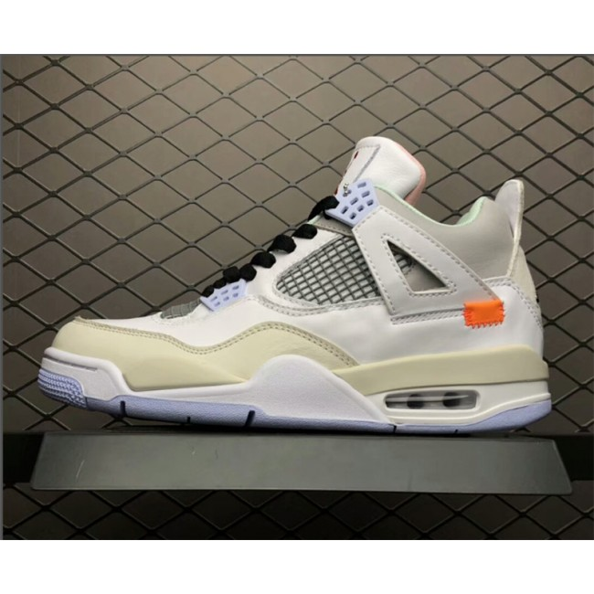 Mens Air Jordan 4 Retro Custom Encore Light Beige-Grey