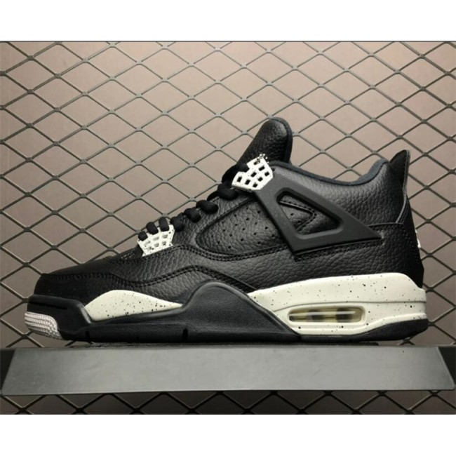 Mens Air Jordan 4 Retro LS Oreo Black Tech Grey