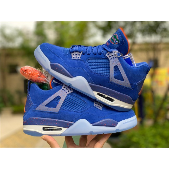Mens Shop Air Jordan 4s Florida Gators PE Basketball Shoes