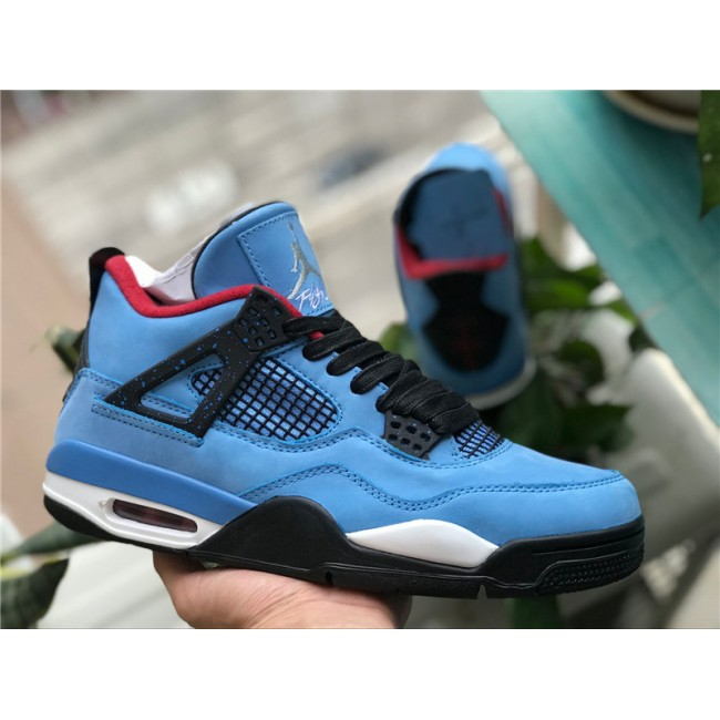 Mens Travis Scott x Air Jordan 4 Retro Houston Oilers