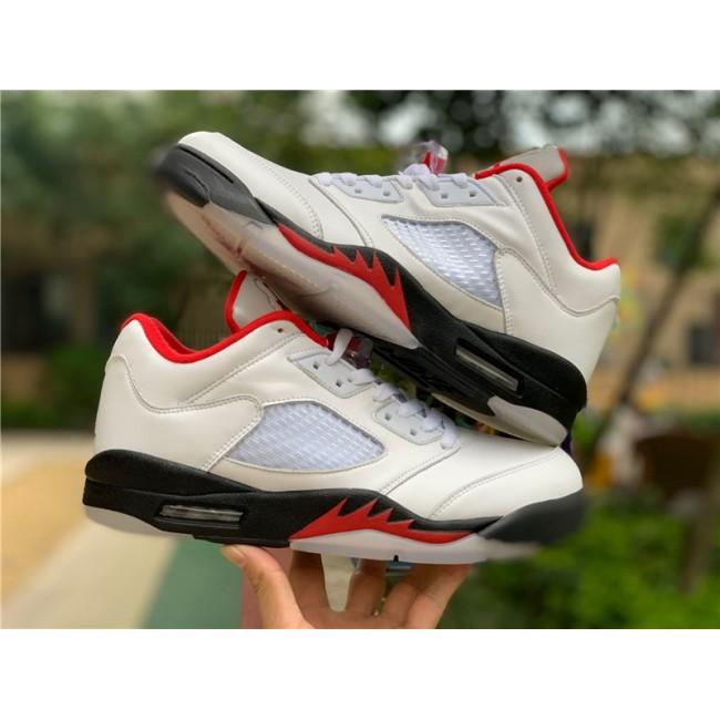 Mens New Air Jordan 5 Low Golf Fire Red Shoes