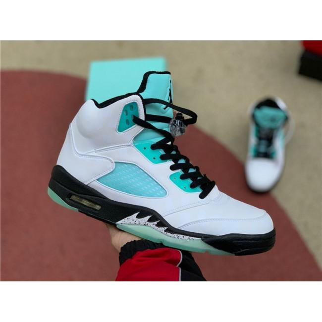 Mens/Womens Air Jordan 5 Island Green White Sneakers