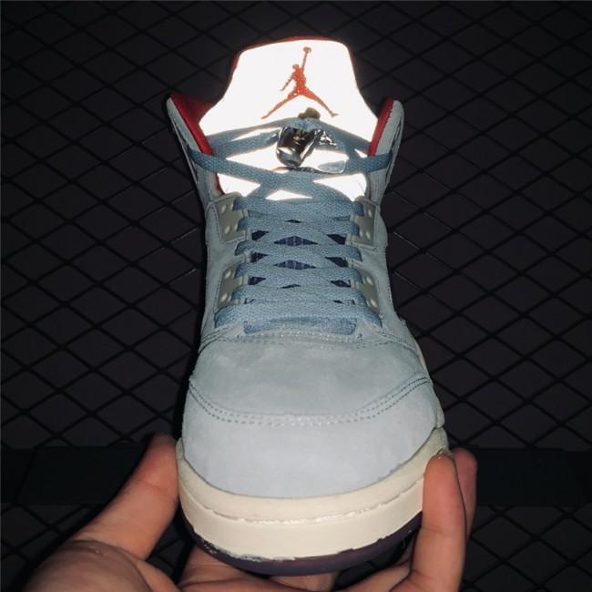 Mens Trophy Room x Air Jordan 5 JSP Ice Blue